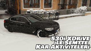 530i XDrive ile Semtte Kar Aktiviteleri | PowerSlide | Kara Saplandı | Vlog