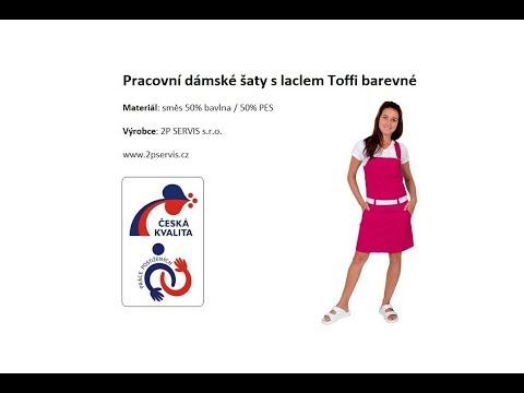 Pracovní dámské šaty s laclem Toffi barevné  4349cc996d