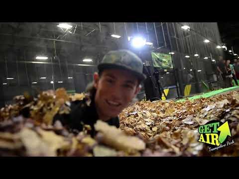 Massive Leaf Pile v Trampoline Foam Pit