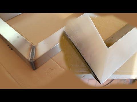 Edelstahl schleifen mit einfachen Werkzeugen - ohne Vorkenntnisse !