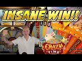 INSANE WIN!!! CRAZY TIME BIG WIN - Game show from Casinodaddys live stream