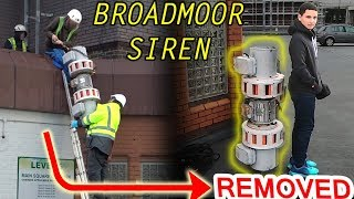 Broadmoor siren--REMOVED & EXAMINED!!  From roof of Shopping Centre