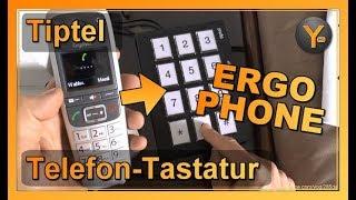 Tiptel Ergophone Wählgerät   Telefon-Tastatur mit Nummernspeicher