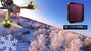 Freewell ND filter testing on the Insta360 One R [Winter Wonderland FPV, Nazgul 5, 4K, RAW]