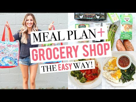 Video EASIEST WAY TO MEAL PLAN | Plan & Shop With Me | 1 Week of Healthy Meals!
