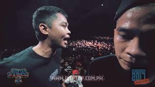 FlipTop Metro Manila presents: Ahon 8, Day 2, Isabuhay Finals @  Riverside Studios, Makati City, Metro Manila, Philippines. December 9, 2017. Filipino Conference Battle.  -MHOT VS SUR HENYO-