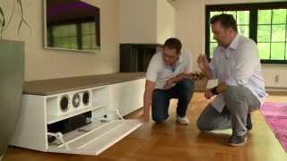 Björn sein Heimkinotraum - versteckte Technik im Wohnzimmer