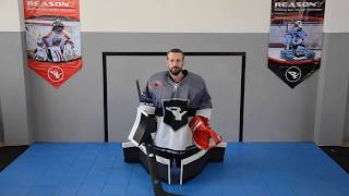 Ball hockey goalie exercise 2