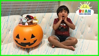 NO HALLOWEEN TRICK OR TREATING FOR RYAN + Family Fun Scavenger Hunt + Baby Trick or treat for candy