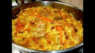מתכון לאושפלו עם פרגית, אורז, ירקות וגרגירי חומוס