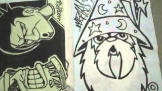 BlackBook - graffiti characters all by Wizard