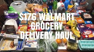 $176 WALMART GROCERY DELIVERY HAUL | FAMILY OF 4