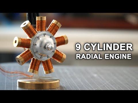 Making a 9 Cylinder Radial Solenoid Engine