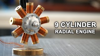 Making an Old Aircraft Engine from Scratch     Solenoid Engine