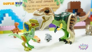 Assembly Lego Dinosaurs Toys Funny Game Animals Eat Fruits