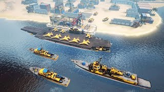New AIRCRAFT CARRIER AT WAR - Naval Battles & Base Building | Armor Clash 3 Gameplay