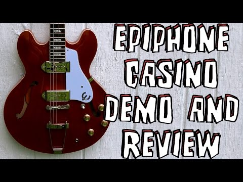 Epiphone Casino Electric Guitar Demo & Review
