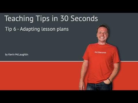Tip 6 Adapting lesson plans