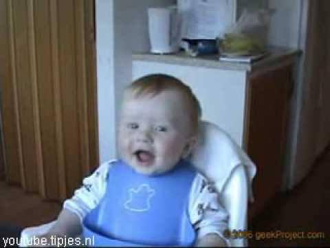 Humor video E-cards, Laughing baby so funny humor