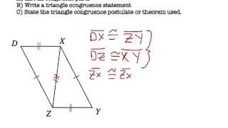 Triangle Congruence Theorems - SSS, SAS, ASA, AAS