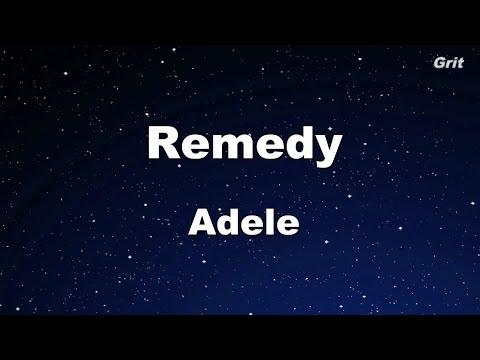 Remedy - Adele Karaoke【No Guide Melody】
