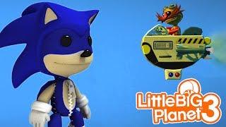 SACKBOY IS SONIC THE HEDGEHOG! | LittleBIGPlanet 3 Gameplay (Playstation 4)