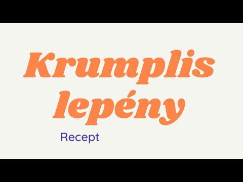 Krumplis lepény recept