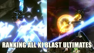 RANKING ALL KI BLAST ULTIMATE'S FROM WEAKEST TO STRONGEST (XENOVERSE 2)