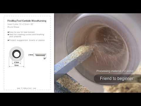 FindBuyTool Carbide Woodturning Insert Cutter 12 x 2.5mm-30° Round Shape