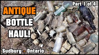 1900s MINERS DUMP DISCOVERED! Antique Bottles & Carbide Lamps Found! Digging Sudbury Ontario