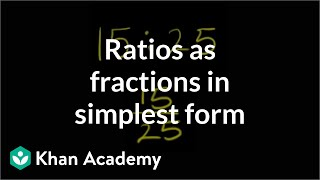Ratios as Fractions in Simplest Form