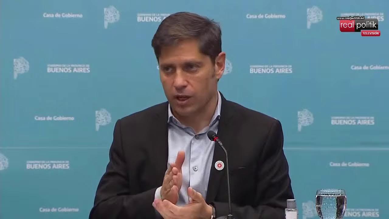 Kicillof anunció segunda dosis libre para mayores de 50 años en la provincia de Buenos Aires