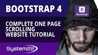 Complete Bootstrap 4 One Page Scrolling Website Tutorial