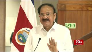 Press Statement by Vice President of India & President of Costa Rica