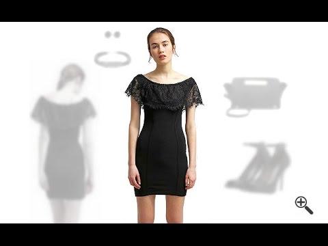 Schulterfreies Kleid mit Ärmeln + 3 Schwarze Outfits fürPetra
