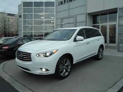 2013 Infiniti JX35 with 20 inch wheels at Infiniti Willow Grove.AVI