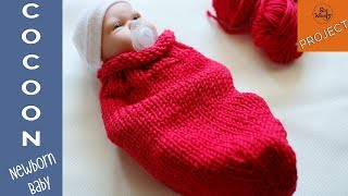 How to knit a cocoon for a Newborn Baby (for beginners) - So Woolly