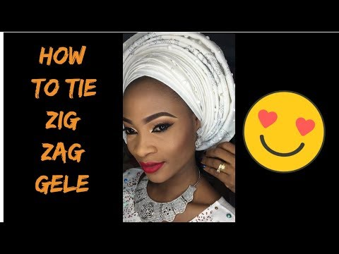 How to tie zig zag gele | head wrap in 5 minutes