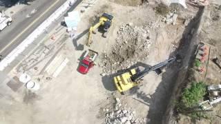Drone Footage of 3200 Washington 75' Above Ground