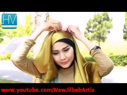 Video Tutorial Jilbab Modern    Satin Square   Inspired by Fatin Shidqia   Part #34