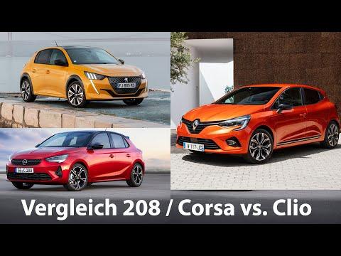 Vergleich: Peugeot 208 / Opel Corsa gegen Renault Clio - Autophorie