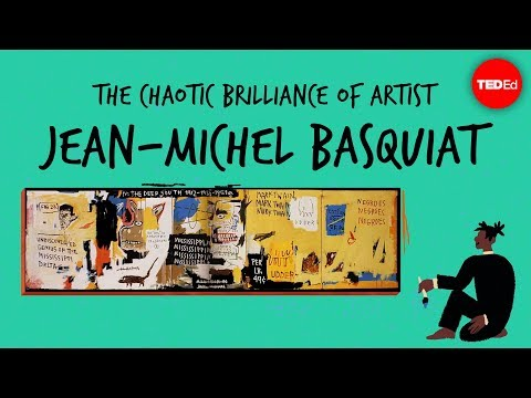 Artist Jean-Michel Basquiat's Crazy Paintings
