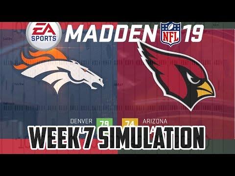 Madden NFL 19 - Week 7 Sim - Denver Broncos vs Arizona Cardinals #cardinals #broncos