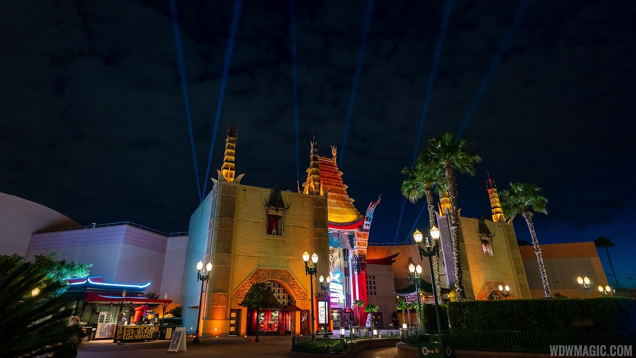 New lighting and searchlights at the Chinese Theater