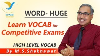 Vocab for Competitive Exams | HUGE | Yuwam | High Level Vocab | English | Man Singh Shekhawat