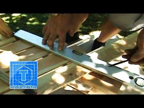 Bank selber bauen   Handwerker-Tipps für den Garten