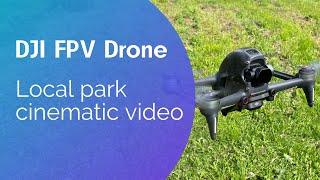 DJI FPV drone cinematic / Local park