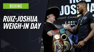 [LIVE] Andy Ruiz Jr. & Anthony Joshua weigh in ahead of rematch!