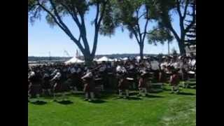 Pipe Band at Highland Games, Spokane on August 4, 2012