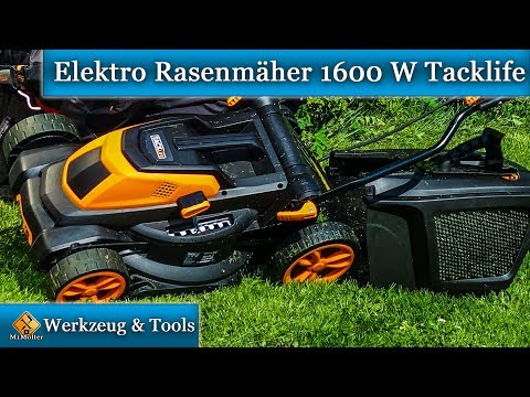 Elektro Rasenmäher 1600 W Tacklife / Rasenmäher mit Mulchfunktion u  40L Grasfangkorb